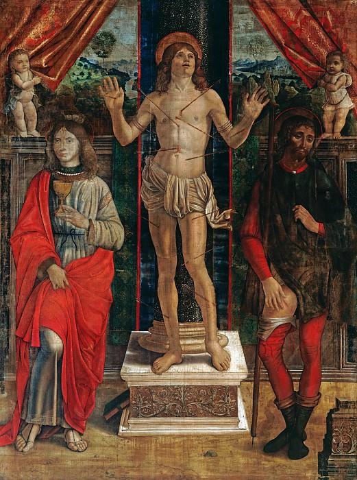Master of Ambrogio Saraceni - The Saints Sebastian, John the Evangelist and Rochus. Part 3