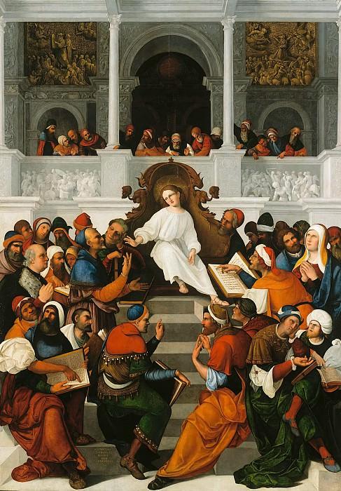 Lodovico Mazzolino (1480-1528-30) - The twelve-year-old Jesus in the temple. Part 3