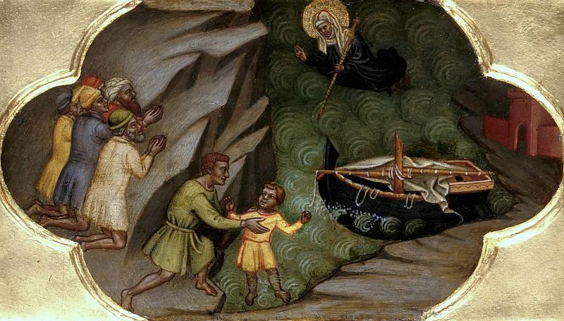 Мартино ди Бартоломео - Святая Бригитта спасает терпящих кораблекрушение. Часть 3