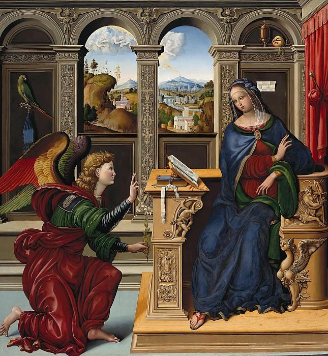 Lucchesisch master, 16c. - The Annunciation. Part 3