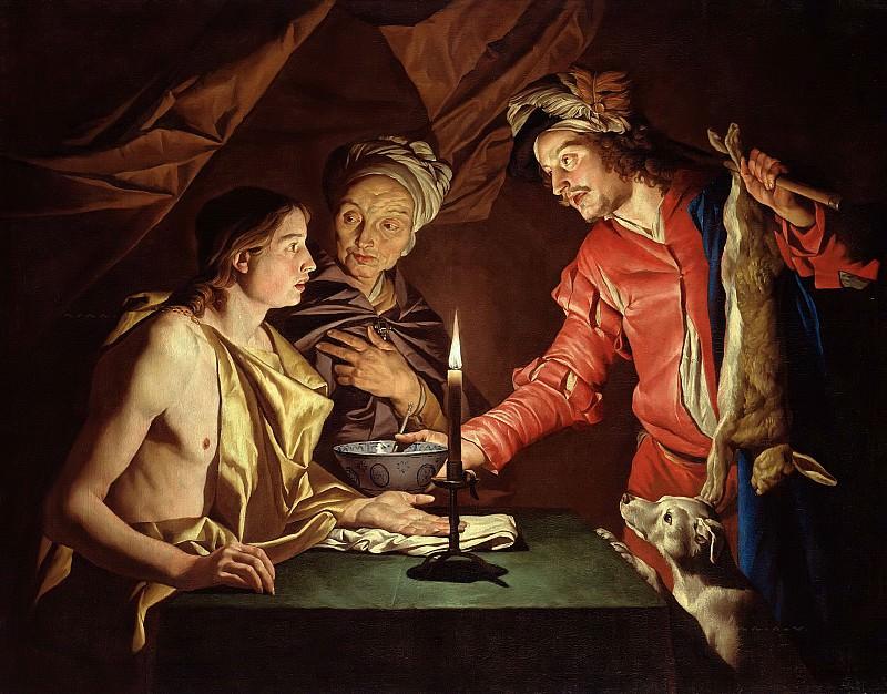 Стом, Маттиас (ок1600-ок1652) - Исав продает право первородства за чечевичную похлебку. Часть 3