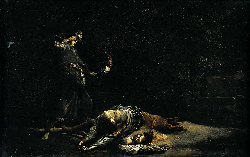 Leonaert Bramer (1596-1674) - Discovery of the bodies of Pyramus and Thisbe. Part 3