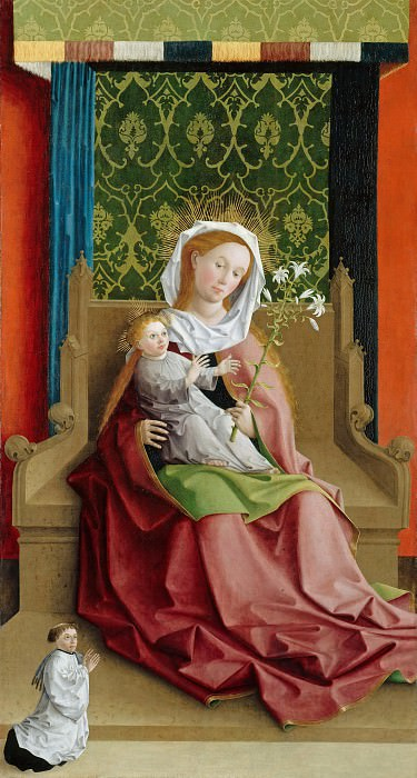 Master of the Darmstadt Passion - Enthroned Madonna with Child. Part 3