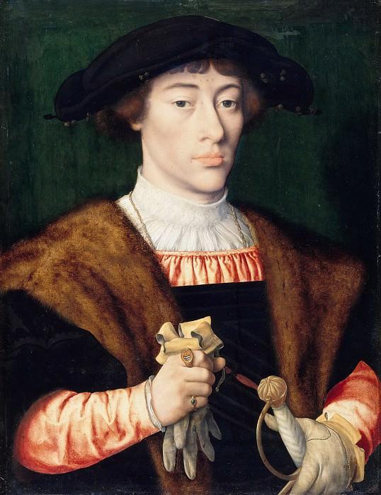 Joos van Cleve (1485-1540) - Portrait of a young man. Part 3