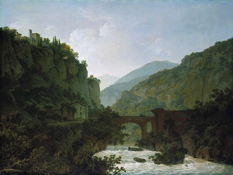 Joseph Wright (1734-1797) - The monastery of St. Cosimato on the Arno. Part 3