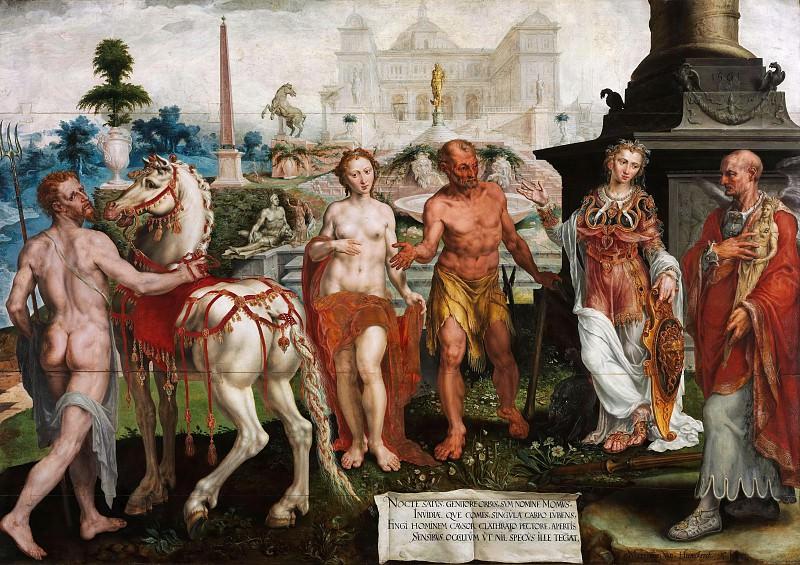 Хемскерк, Мартин ван (1498-1574) - Мом, критикующий творения Богов. Часть 3