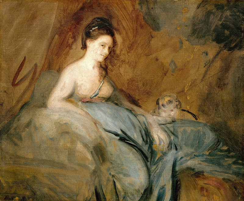 Joshua Reynolds (1723-1792) - The actress Kitty Fisher as Danae. Part 3