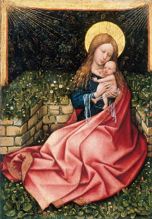 Robert Campin (c.1375-1444) - Madonna by a Grassy Bank. Part 3