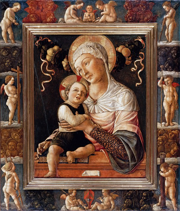 Lazzaro Bastiani (c.1425-1512) - Madonna and Child in Painted Frame. Part 3