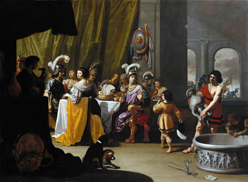 Jan van Bijlert (1597-1671) - The Banquet Alexander and Cleitus. Part 3