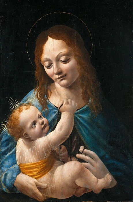 Master of Pala Sforzesca - Madonna with Child. Part 3