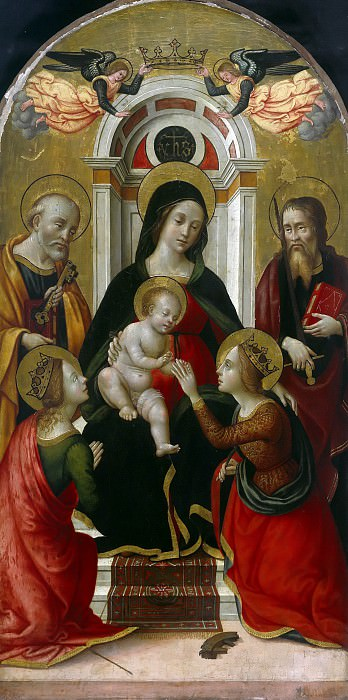 Master of Miller Tondo - The marriage of Saint Catherine in the presence of St. Helen, Peter and Paul. Part 3