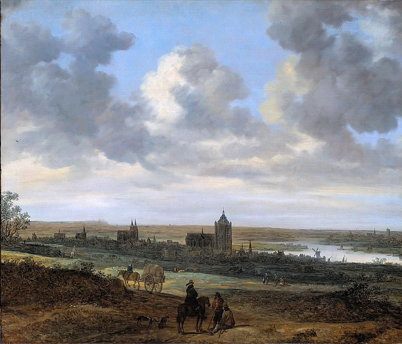 Jan van Goyen (1596-1656) - View Arnhem. Part 3