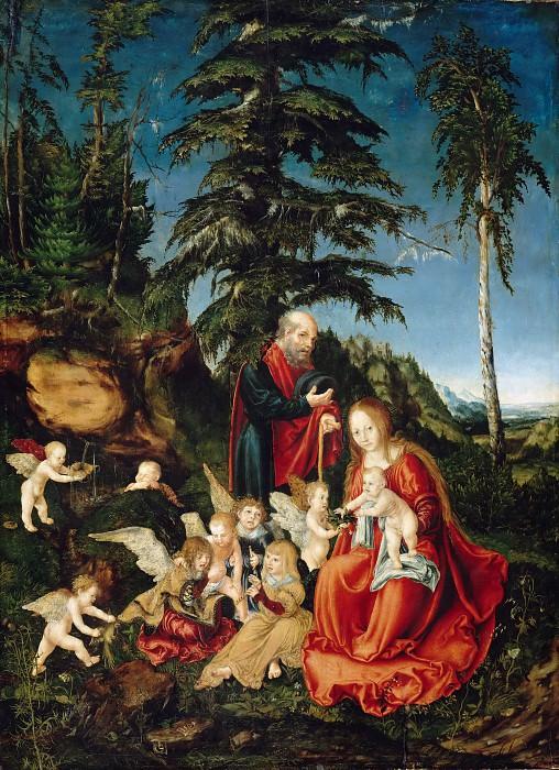 Lucas Cranach I (1472-1553) - Rest on the Flight to Egypt. Part 3