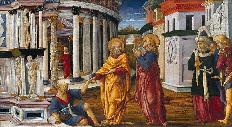 Liberale da Verona (c.1445-c.1530) - St. Peter heals a lame man. Part 3
