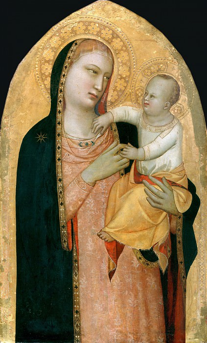 Maso di Banco (before1300-after1353) - Maria with the child. Part 3