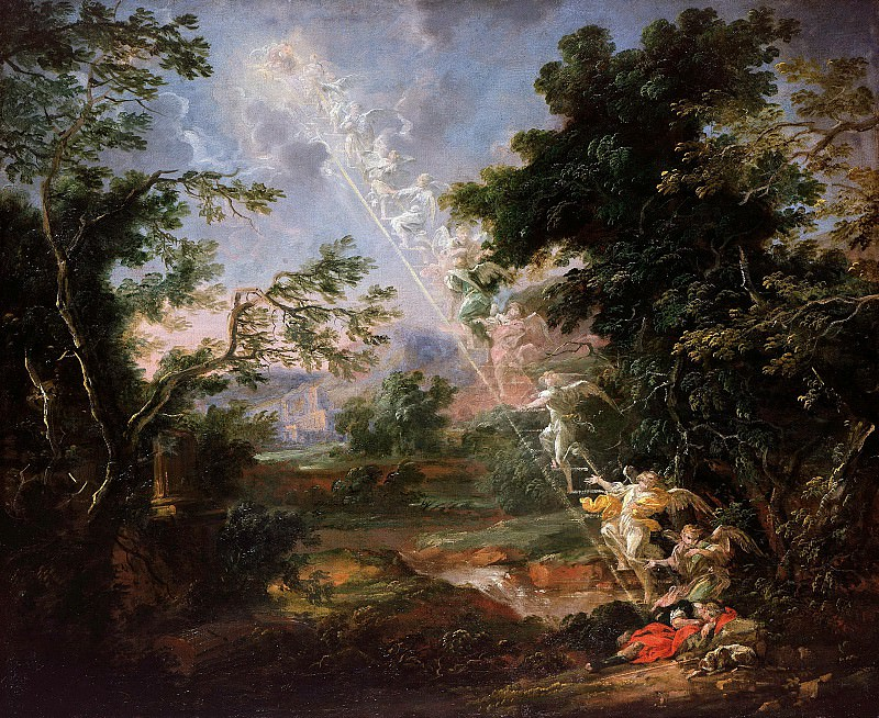 Michael Lucas Leopold Willmann (1630-1706) - Landscape with the Dream of Jacob. Part 3
