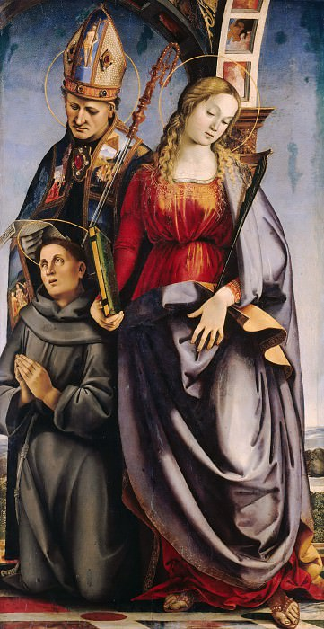 Luca Signorelli (c.1445-1523) - The St. Augustine, Catherine of Alexandria and St. Anthony of Padua. Part 3