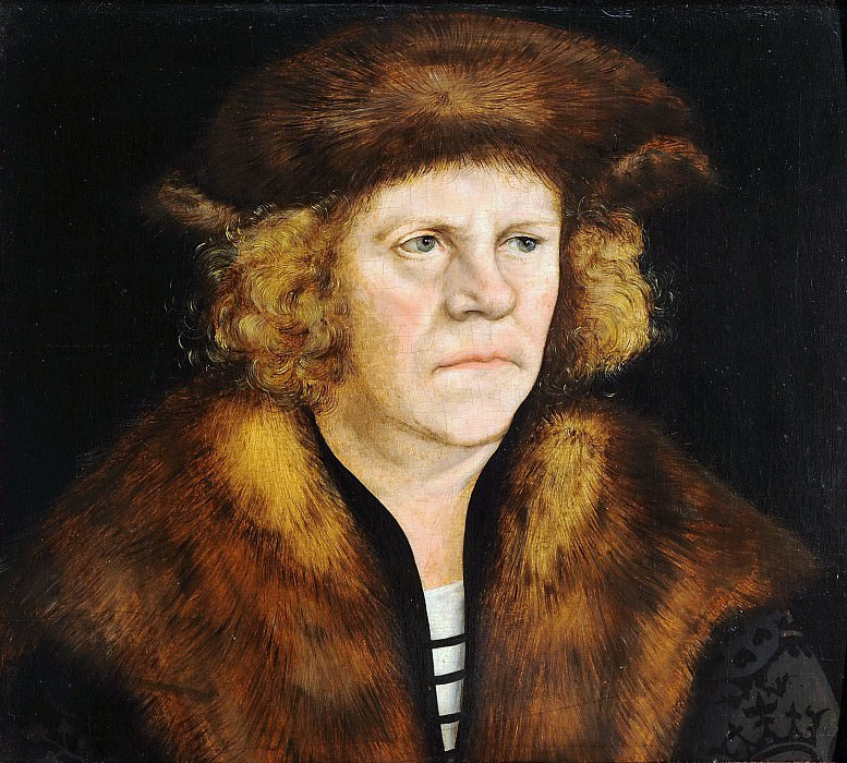 Lucas Cranach I (1472-1553) - Portrait of a man in a fur beret. Part 3