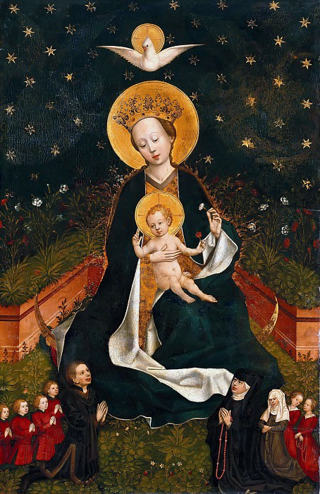 Master1456 - The Madonna on the crescent moon in the Hortus conclusus. Part 3