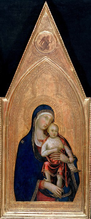 Lippo Memmi (after1290-1356) - Maria with the child. Part 3