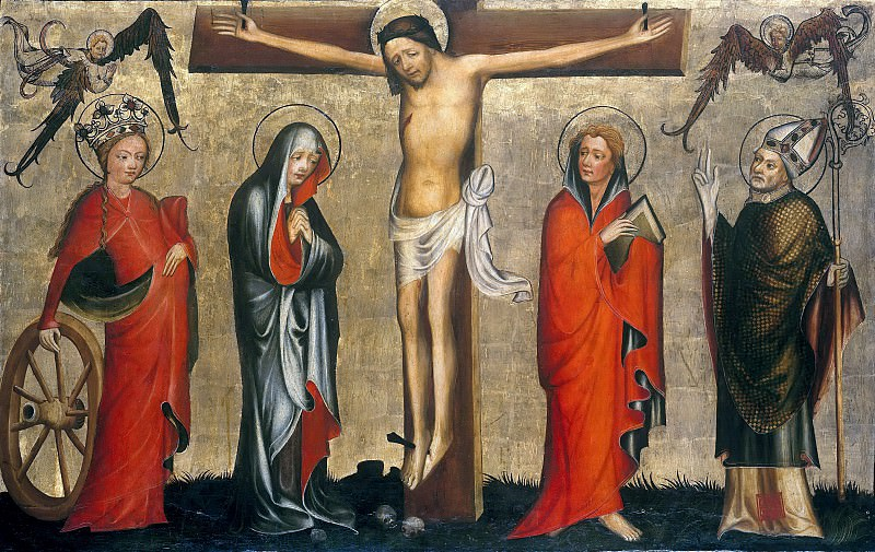 Magdeburg Master - Winged altar - Crucifixion with Saints. Part 3
