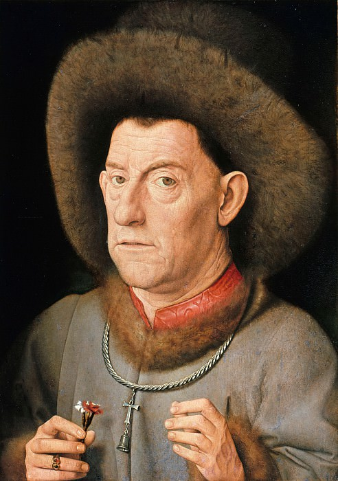 Jan van Eyck (circle) = Man with pinks. Part 3