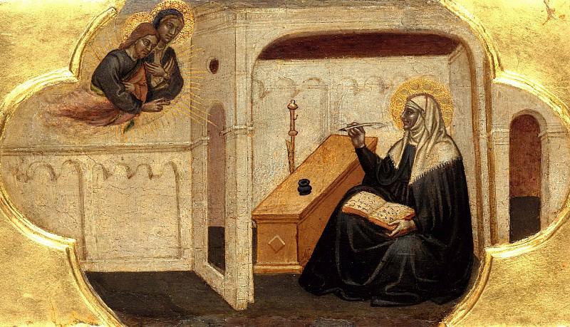 Мартино ди Бартоломео - Святая Бригитта, записывающая под диктовку Христа и Богородицы. Часть 3