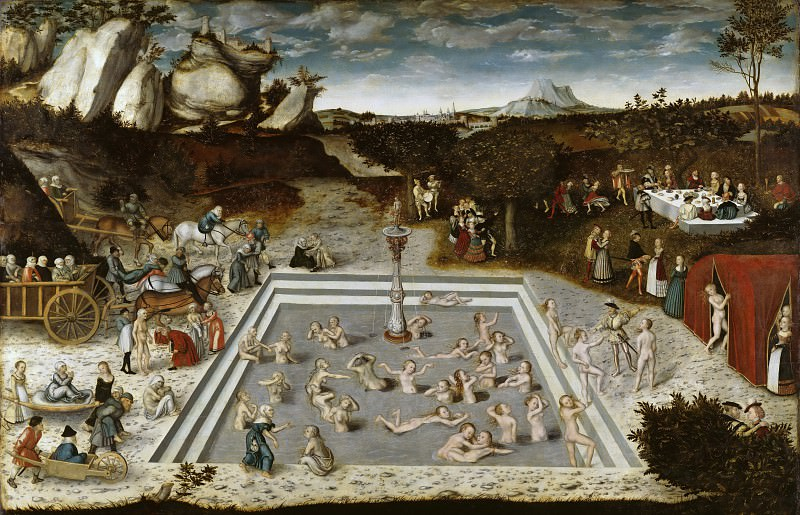 Lucas Cranach I (1472-1553) - The Fountain of Youth. Part 3