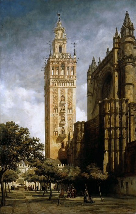 Adrien Dauzats -- The Giralda of Seville. Part 2 Louvre