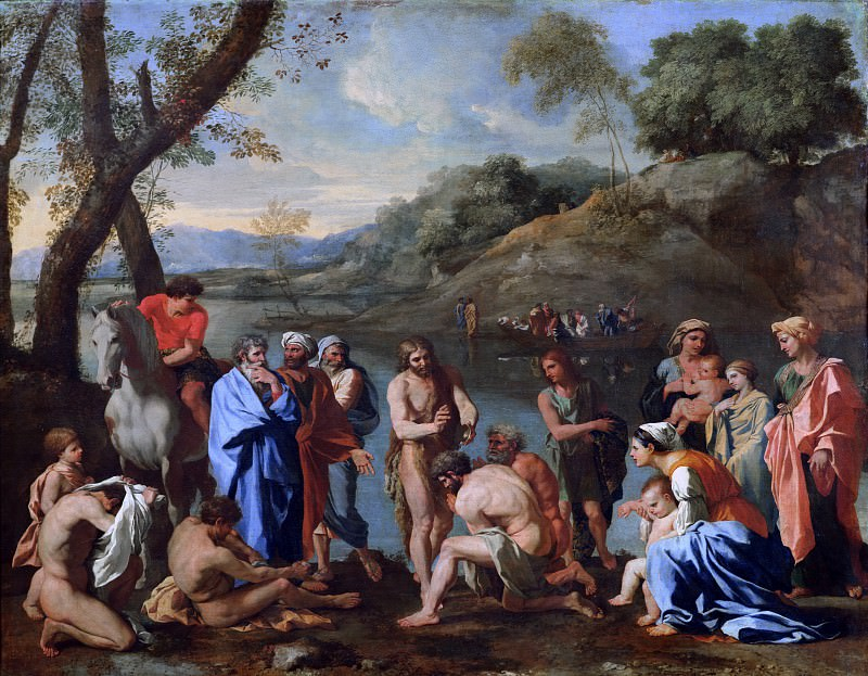 Saint John baptising the people. Nicolas Poussin