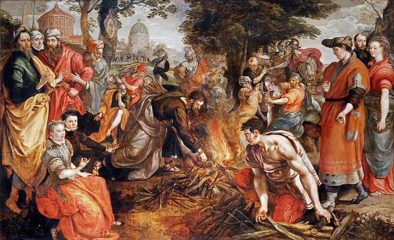 Maarten de Vos -- Saint Paul Battles the Snake on the Isle of Malta. Part 2 Louvre