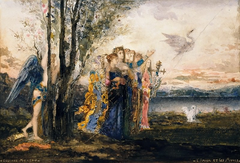 Gustave Moreau -- Amor and the Muses. Part 2 Louvre