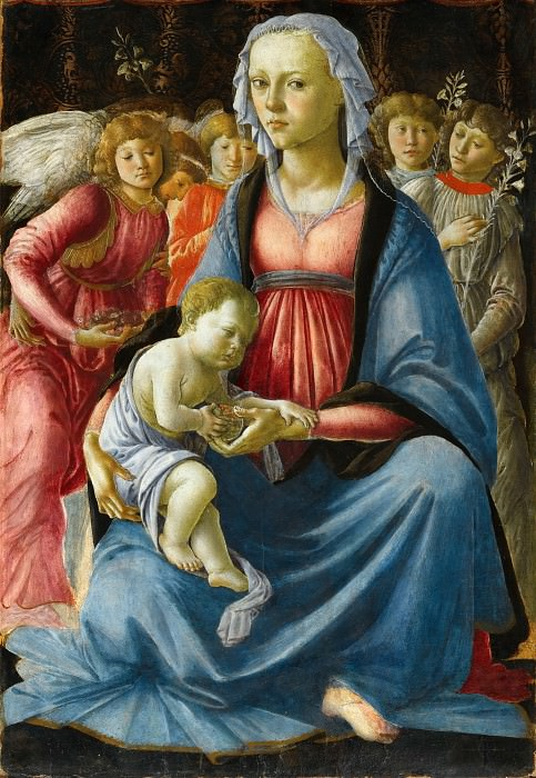 Virgin and Child surrounded by Five Angels. Alessandro Botticelli