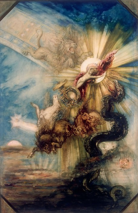Gustave Moreau -- Fall of Phaeton. Part 2 Louvre