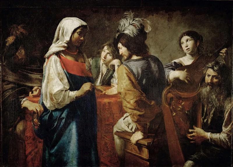 Valentin de Boulogne -- The Fortuneteller. Part 2 Louvre