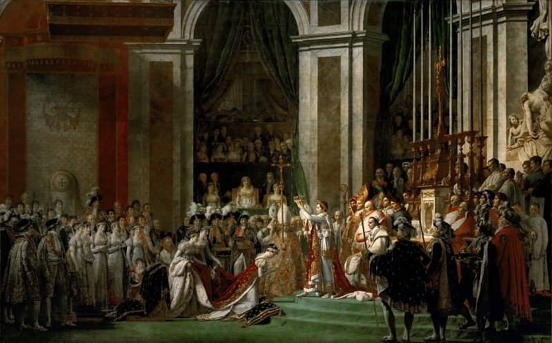 David,Jacques Louis -- The Coronation of the Napoleon and Joséphine in Notre-Dame Cathedral on December 2, 1804. Part 2 Louvre