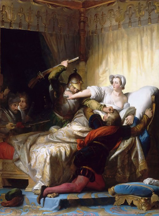 Alexandre-Evariste Fragonard -- Scene from the Saint Bartholomew's Day Massacre in the apartment of the Queen of Navarra, August 24, 1572. Part 2 Louvre