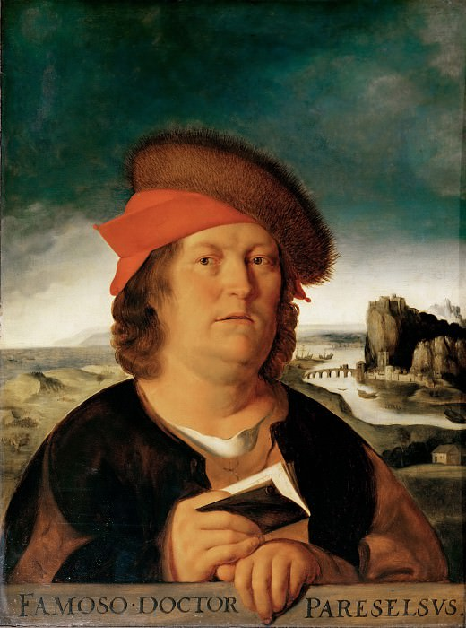 After Quinten Metsys -- Portrait of the Physician Paracelsus. Part 2 Louvre