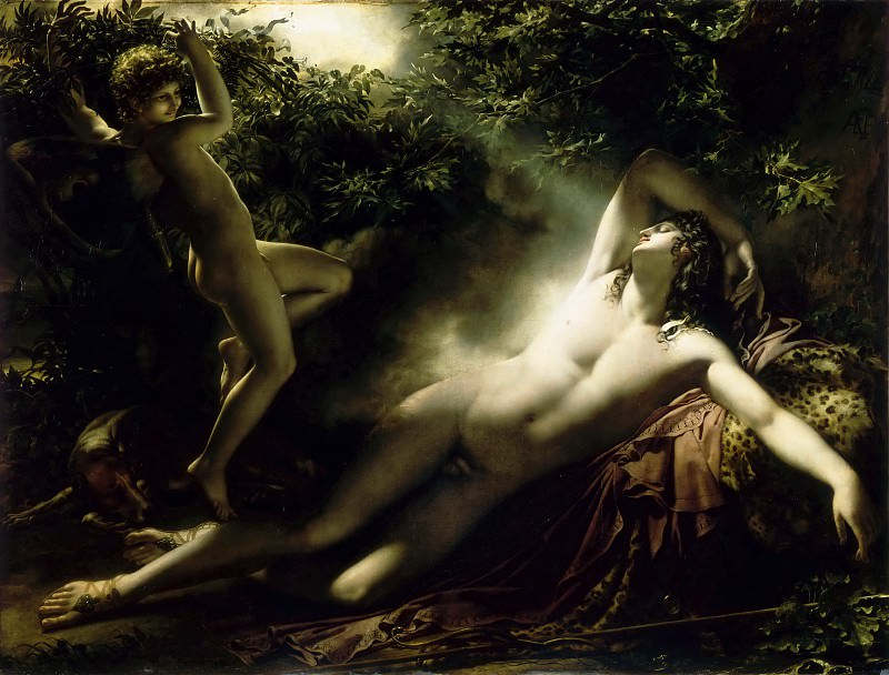 Anne-Louis Girodet de Roucy-Trioson -- Endymion, Moonlight Effect (The Sleep of Endymion). Part 2 Louvre