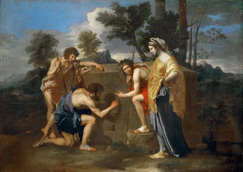 Arcadian shepherds ('Et in Arcadia Ego'). Nicolas Poussin