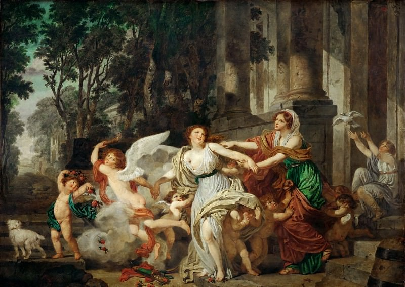 Jean-Baptiste Greuze (1725-1805) -- Innocence Carried Away by Love, or The Triumph of Hymen. Part 2 Louvre