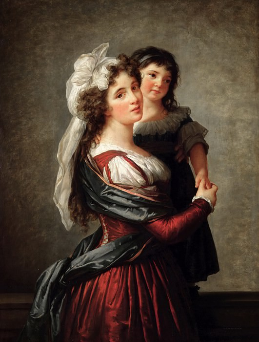 Madame Rousseau and her Daughter. Élisabeth Louise Vigée Le Brun