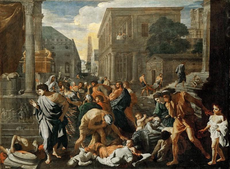 Nicolas Poussin -- Plague of Ashdod (Philistines Stricken by Plague). Part 2 Louvre