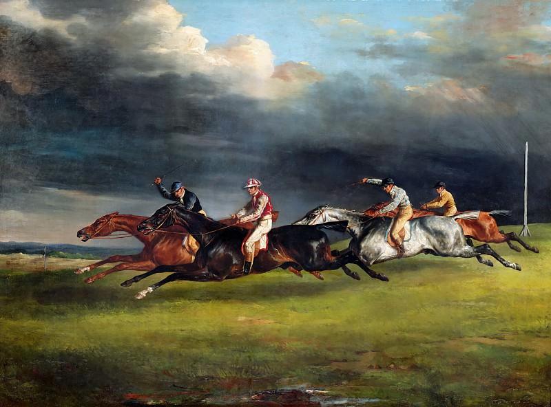 Théodore Géricault -- Horse Race (Derby of 1821 at Epsom). Part 2 Louvre