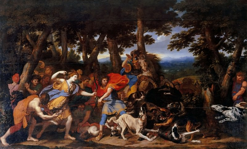 Charles Le Brun, animals attributed to Pieter Boel -- Hunt of Meleager and Atalanta. Part 2 Louvre