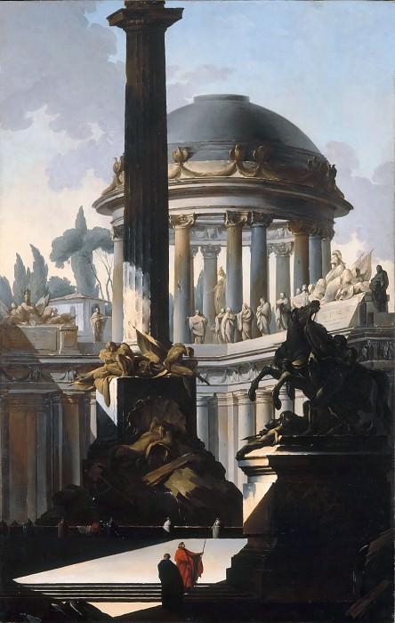 Лоррен, Луи Жозеф ле (Париж 1715-1760) -- Архитектурное каприччо. часть 2 Лувр