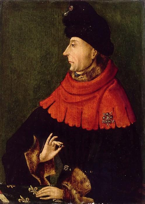 Burgundian; formerly attributed to School of van Eyck -- Portrait of John the Fearless (Jean sans Peur, duc de Bourgogne). Part 2 Louvre