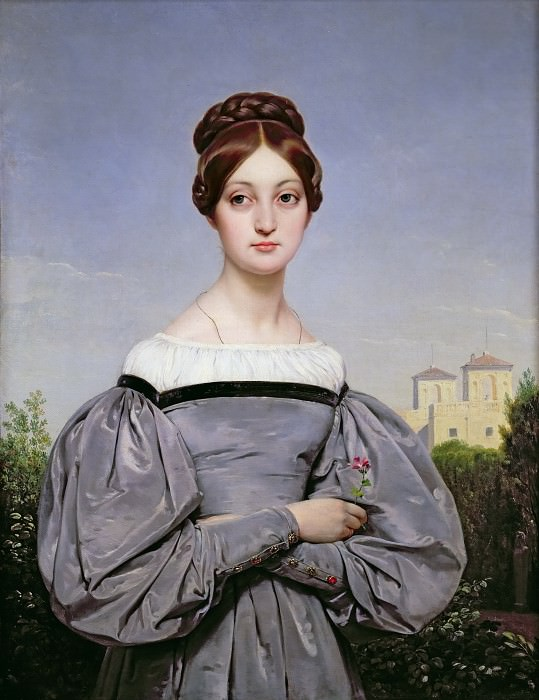 Portrait of Louise Vernet, daughter of the artist. Horace Vernet