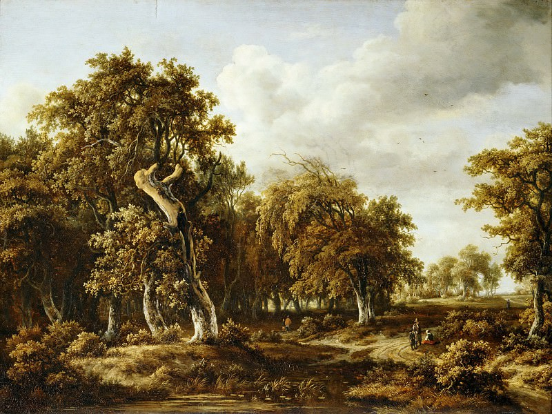 Meindert Hobbema (1638-1709) -- The Oak Forest. Part 2 Louvre